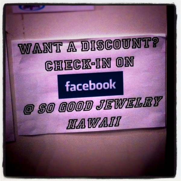 Chech-in facebook for discount