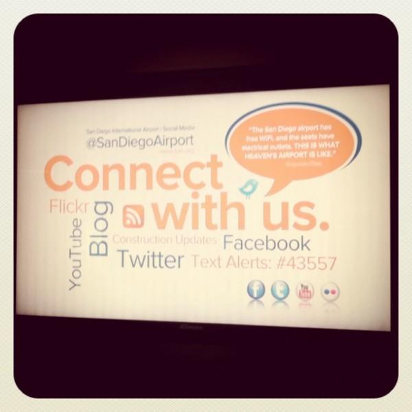 san diego airport social media