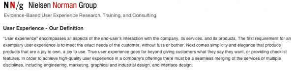 Definizione UX Nielsen