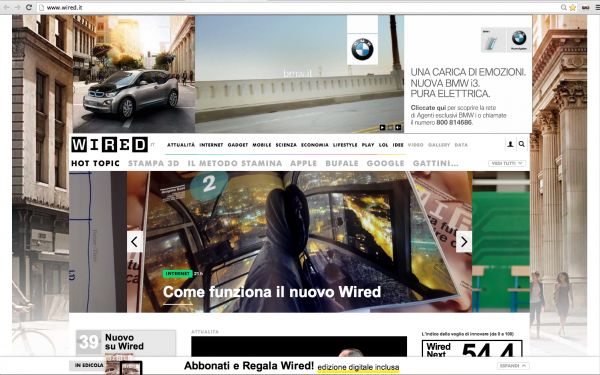 wired italia logo homepage banner blindness