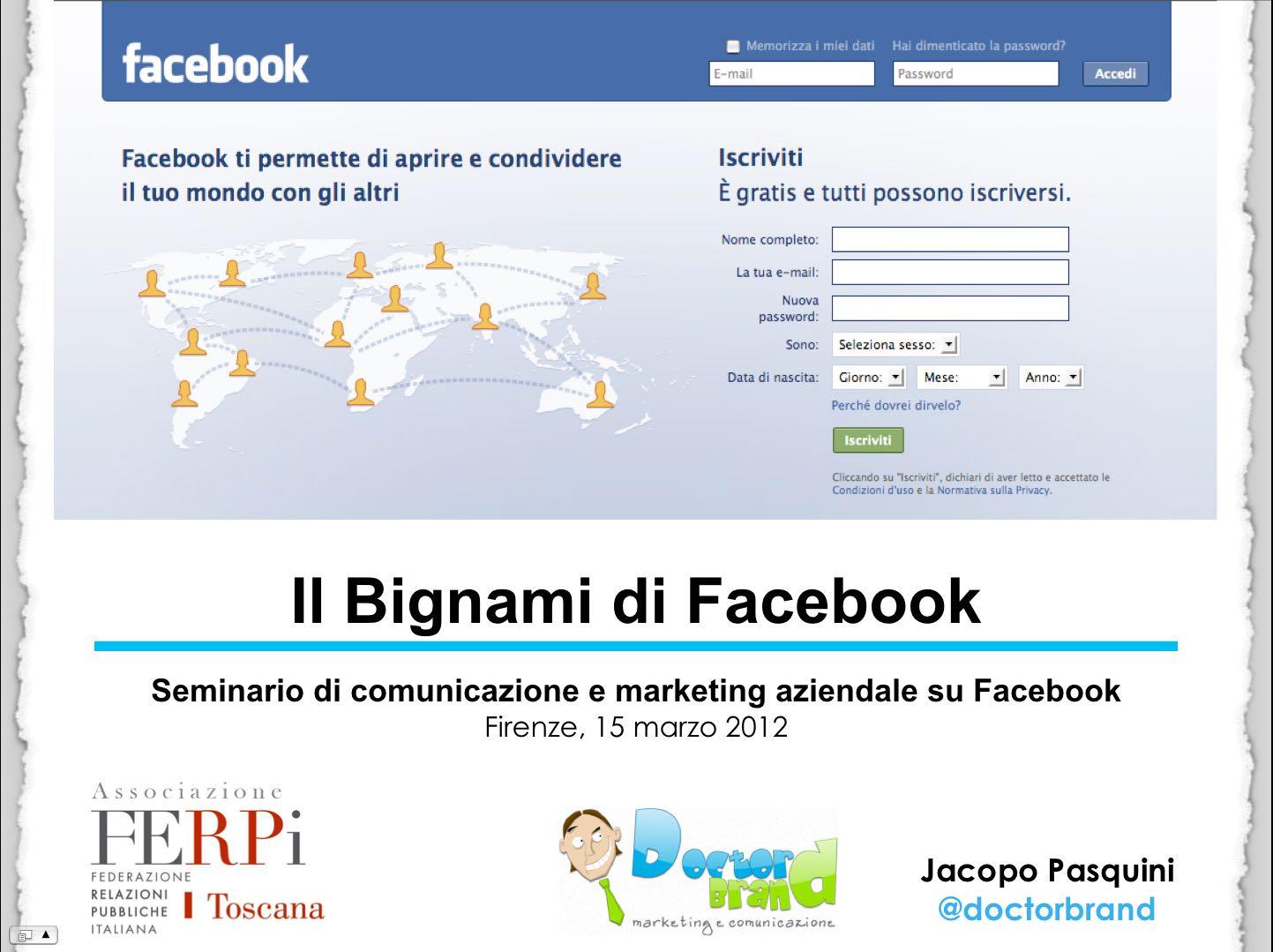 Comunicazione e marketing aziendale su Facebook Jacopo Pasquini Ferpi Toscana
