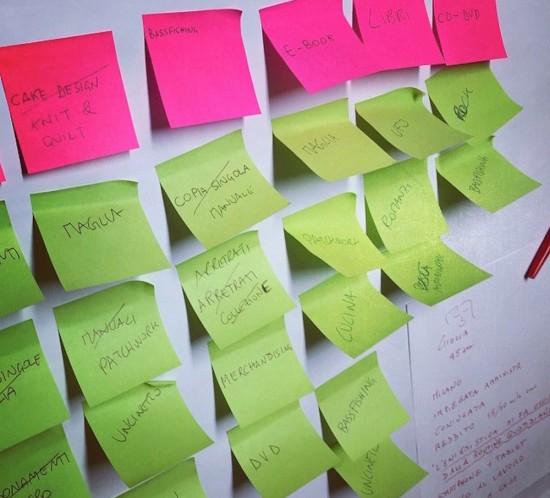 card sorting architettura informativa information architecture IA post it menu navigazione