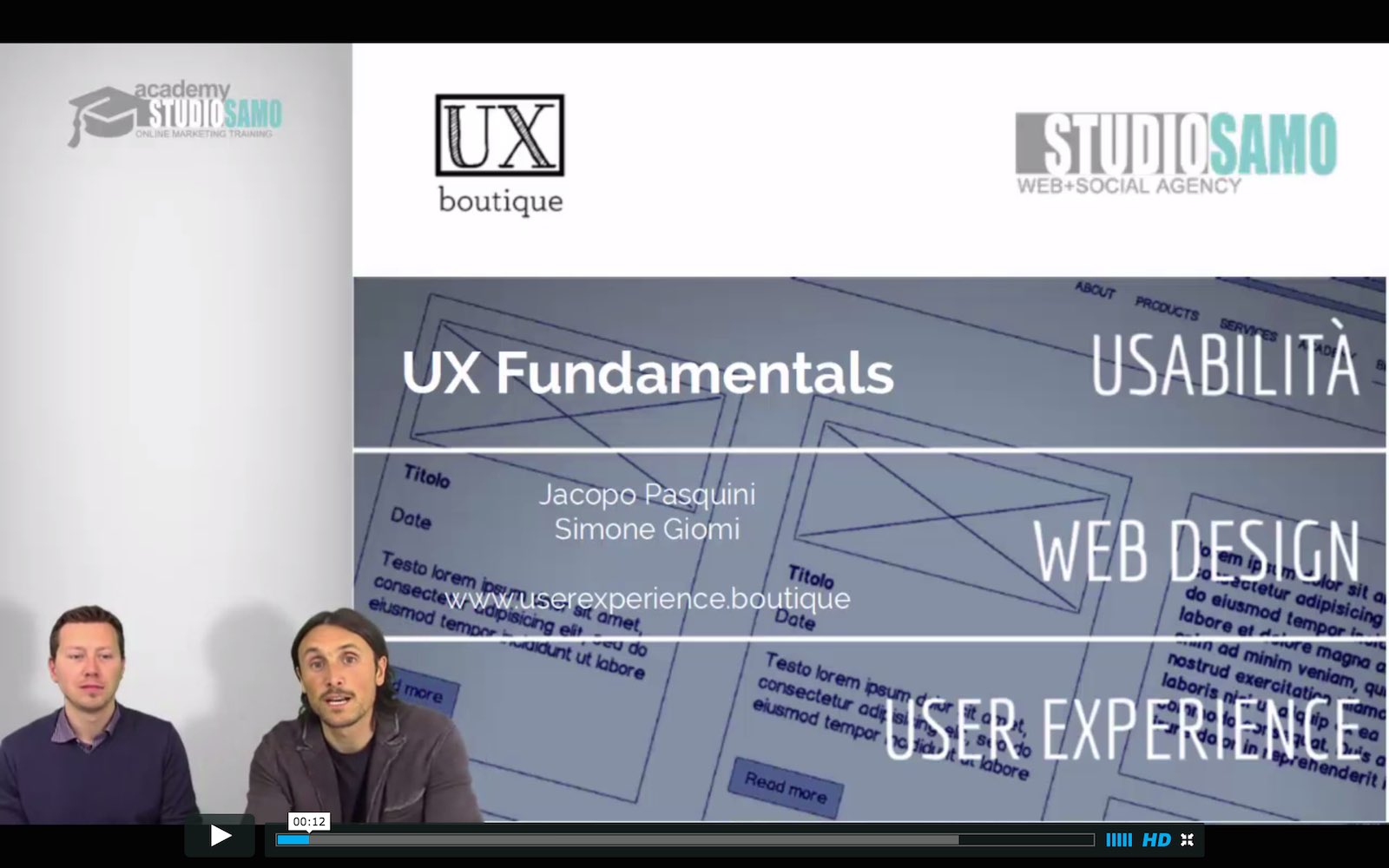introduzione ux design fundamentals