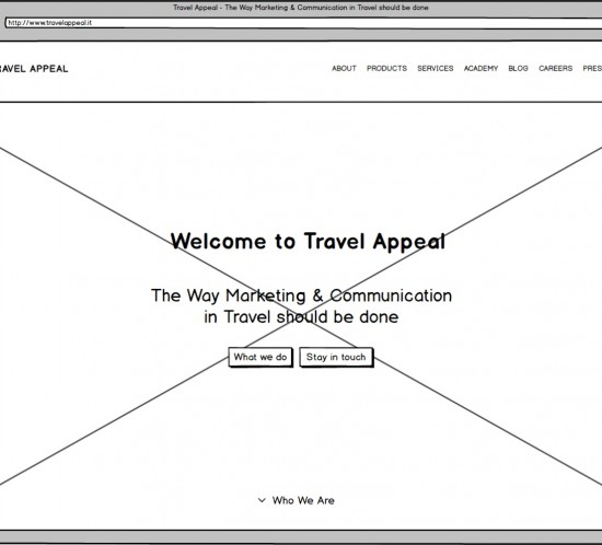 Wireframe Mockup UX Interaction Design Travelappeal H-Farm